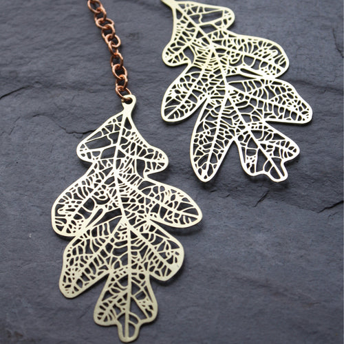 oak leaf sun catcher by Audra Azoury