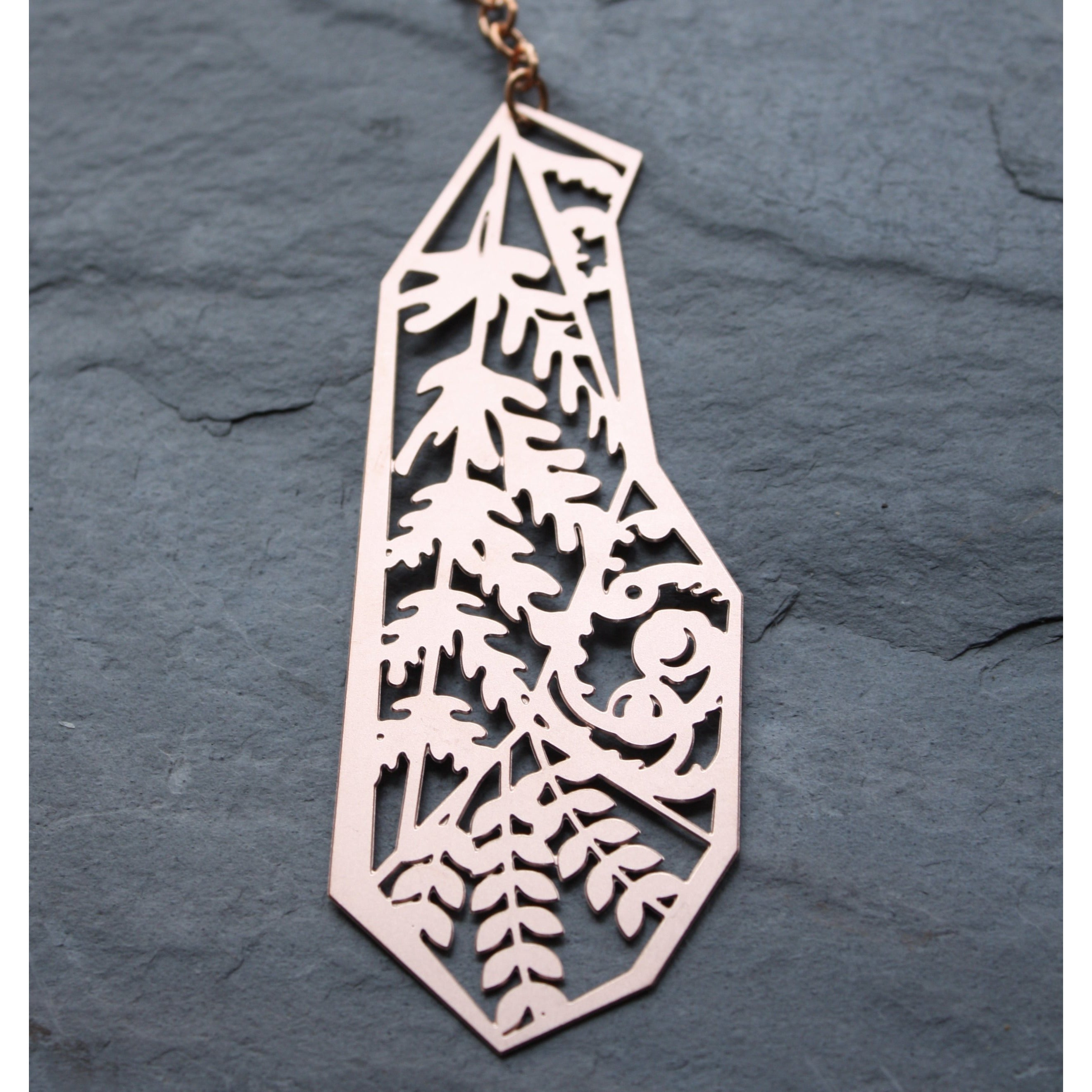 copper fern sun catcher by audra azoury