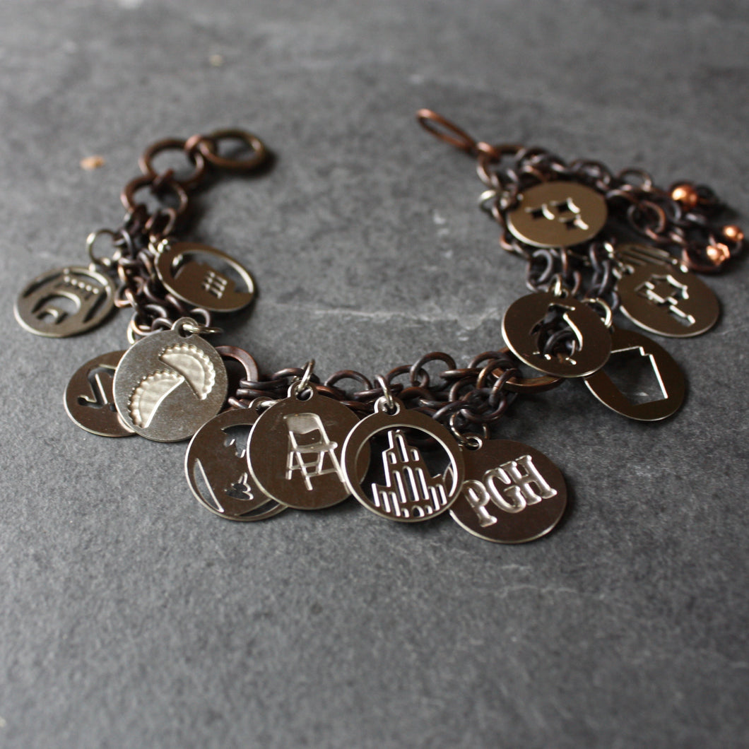 Pittsburgh Charm Bracelet | Mini Charms