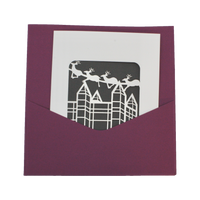 Reindeer Card + Pocket Envelope | Assorted Colors