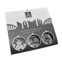 Pittsburgh ICON ornament Gift Set by Audra Azoury