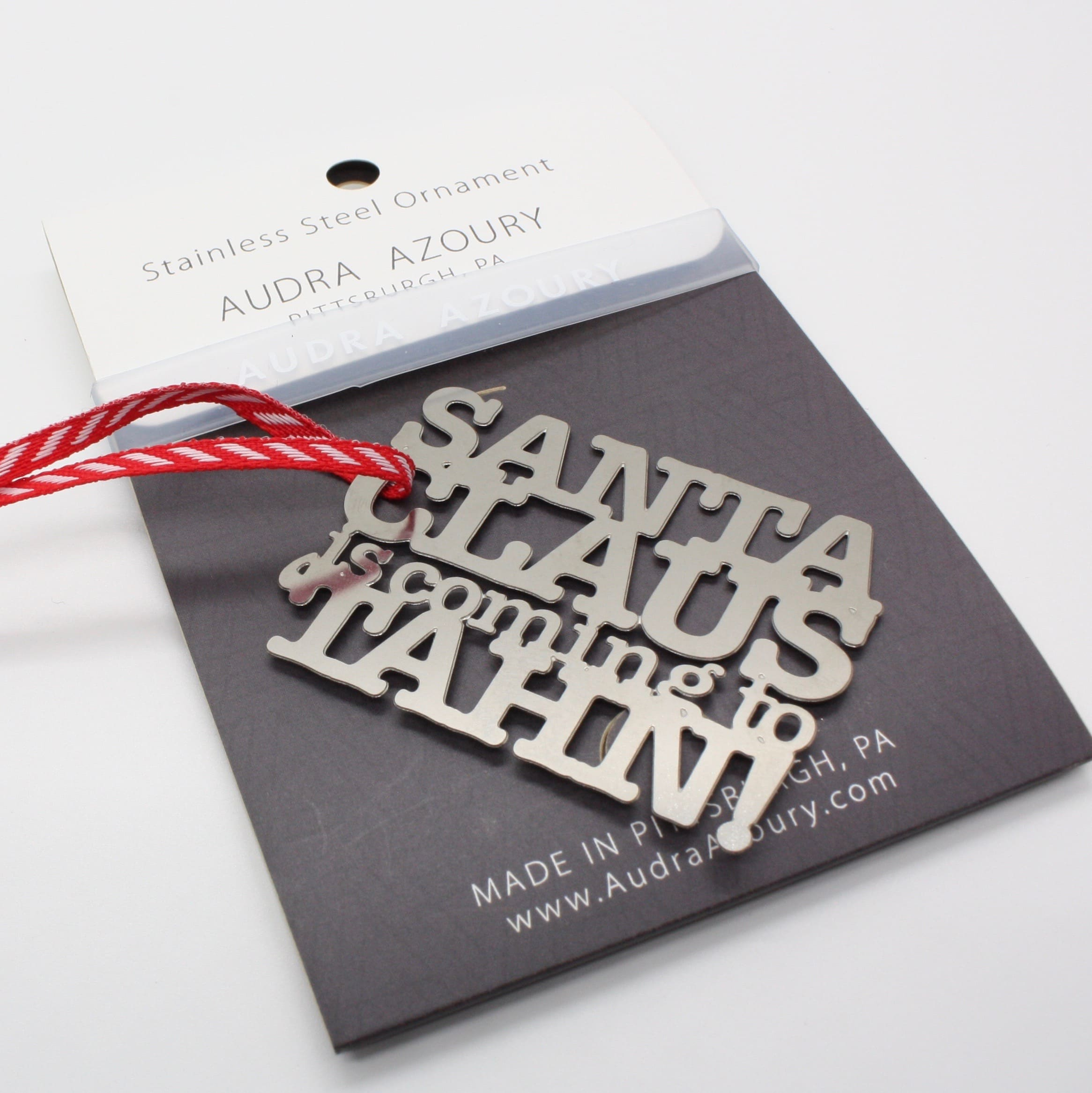 Pittsburghese Ornament | MINI Santa Claus is Coming to 'Tahn- oopsy cut