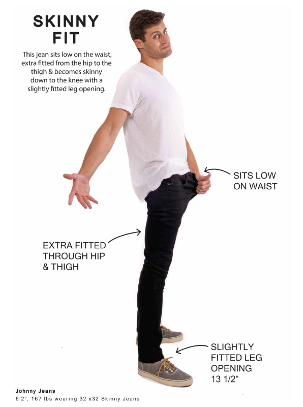 Perfect Jean - Skinny Fit - Fit Guide