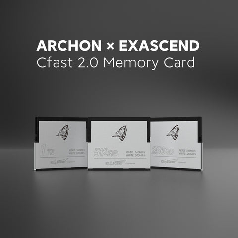 ARCHON & EXASCEND Cfast 2.0 Card 500MB/S 256GB, 512GB, 1TB 4K 6K for Professional Photograph Camera Video Memory Card GMCINE