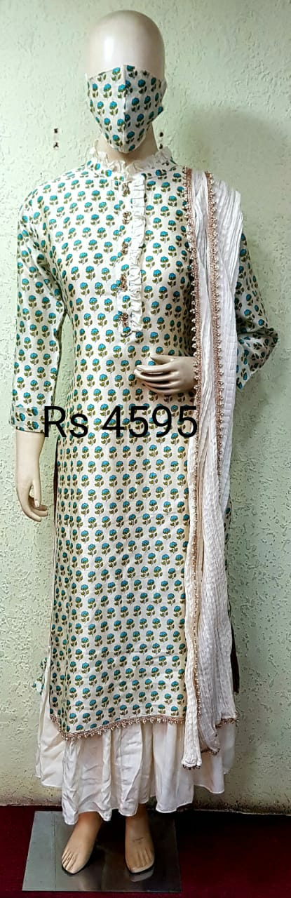 Double Layered Gown With Dupatta_