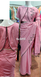 Soft Silk Sequence Saree With Blouse_