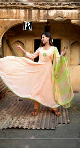 Anarkali chikankari Full suit