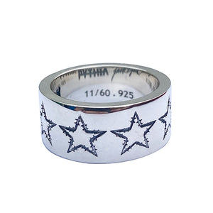 Barbwire Star Rings