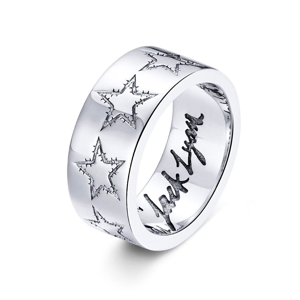 Barbwire Star Ring