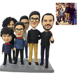 AU Sales-Custom Fully Customizable 6 person Bobbleheads