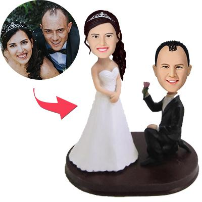 AU Sales-Custom Take My flower Wedding Bobbleheads