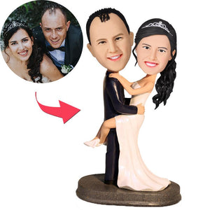 AU Sales-Custom Wedding Pose Bobbleheads With Engraved Text