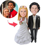 AU Sales-Custom Wedding With Black Suit Bobbleheads