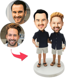 AU Sales-Custom Casual Same-sex Male Couple Bobbleheads