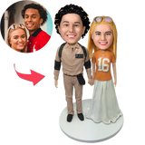AU Sales-Custom Casual Couple Bobbleheads