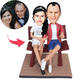 AU Sales-Custom Couple In The Chair Bobbleheads