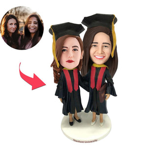 AU Sales-Custom Graduation Friend Bobbleheads With Engraved Text