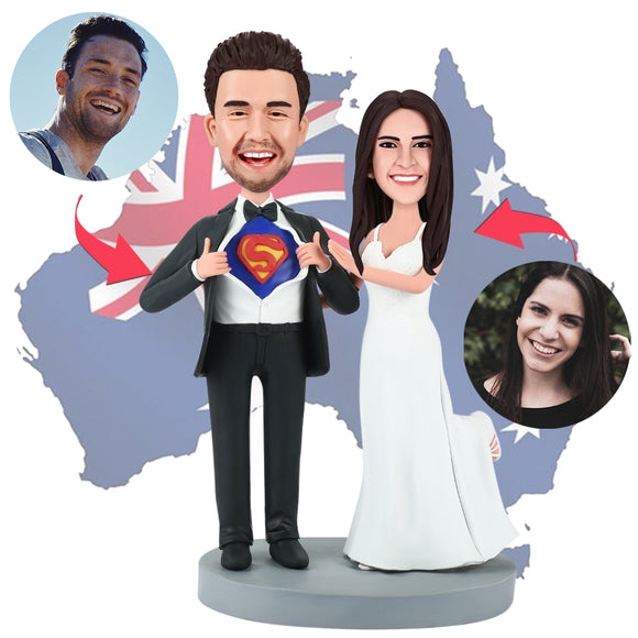 AU Sales-Custom Wedding Superman Bobbleheads