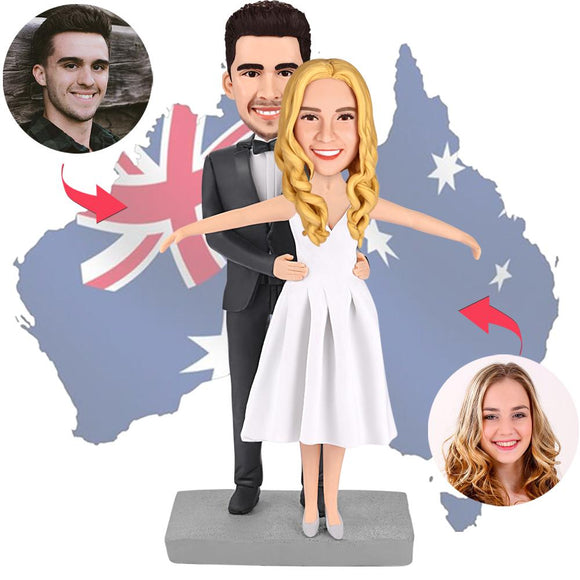 AU Sales-Custom Jack And Rose Bobbleheads With Engraved Text