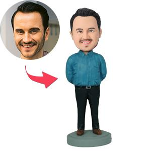 AU Sales-Custom Man With Arms Behind His Back Bobbleheads