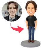 AU Sales-Custom Casual Male in Jeans Bobbleheads
