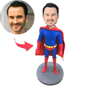 AU Sales-Custom Male Superhero Premium Figure Bobbleheads