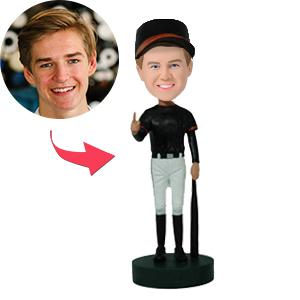AU Sales-Custom Number 1 Baseball Player Bobbleheads