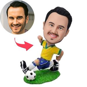 AU Sales-Custom Soccer/football Player Running Bobbleheads