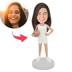 AU Sales-Custom Female Basketball Player Bobbleheads