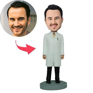 AU Sales-Custom Male In Lab Coat Bobbleheads
