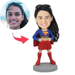 AU Sales-Custom Superhero Woman Bobbleheads