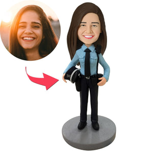 AU Sales-Custom Female Police Officer Bobbleheads