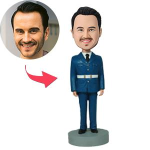 AU Sales-Custom Man In Uniform Bobbleheads