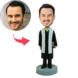 AU Sales-Custom Male Clergy Bobbleheads