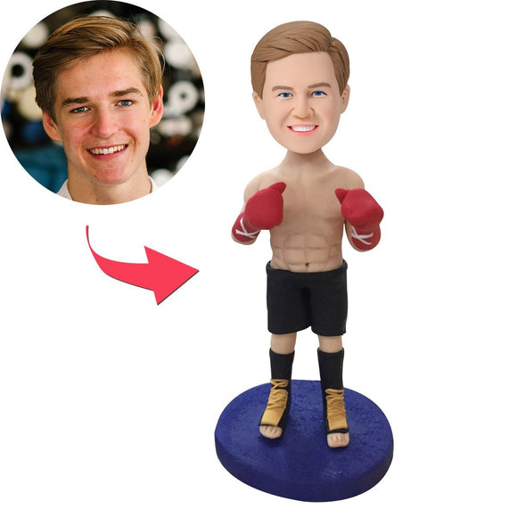 AU Sales-Custom Boxer Bobbleheads With Engraved Text