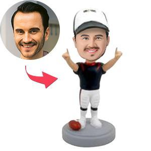 AU Sales-Custom Football Player Winning Pose Bobbleheads