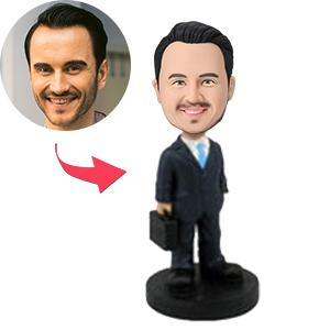AU Sales-Custom Male Executive With Briefcase Bobbleheads