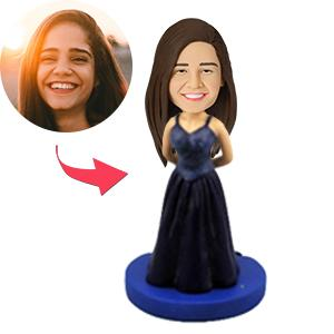 AU Sales-Custom Woman In Evening Dress Bobbleheads