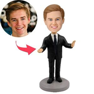AU Sales-Custom Male Executive Public Speaker Bobbleheads