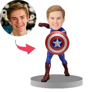 AU Sales-Custom Captain America Popular Bobbleheads With Engraved Text