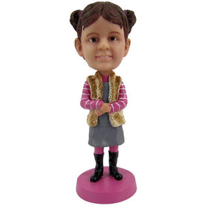 AU Sales-Custom Cute Girl Bobbleheads