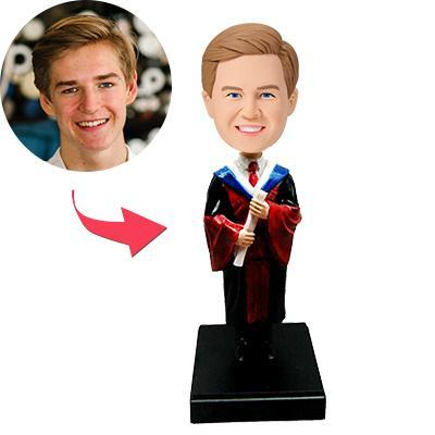 AU Sales-Custom Top Student Bobbleheads With Engraved Text