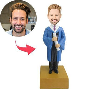 AU Sales-Custom Graduation Boy Bobbleheads
