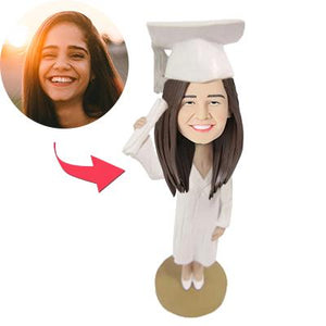 AU Sales-Custom Graduation Girl Bobbleheads With Engraved Text