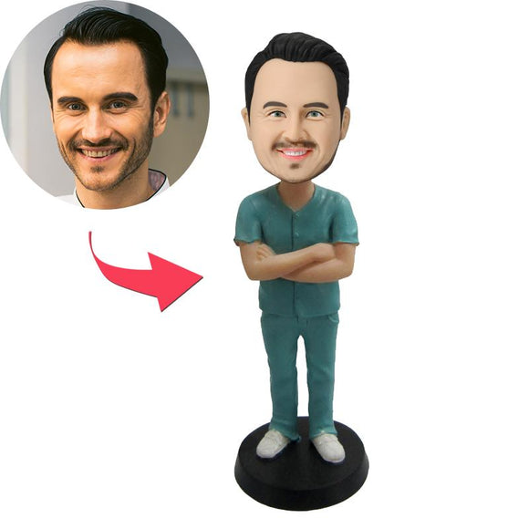 AU Sales-Custom Male Nurse Bobbleheads