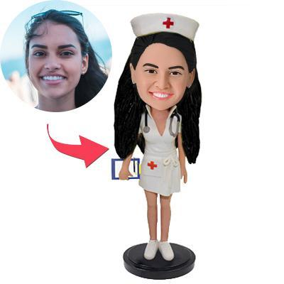 AU Sales-Custom Beautiful Nurse Bobbleheads With Engraved Text