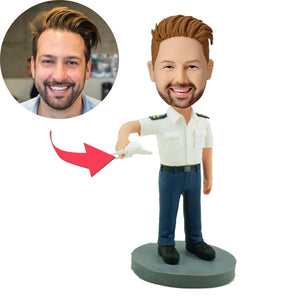 AU Sales-Custom Pilot Carrying A Modle Plane Bobbleheads