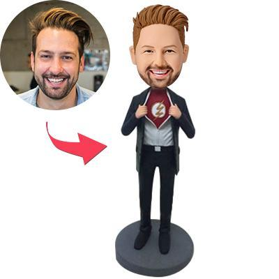 AU Sales-Custom Becomes The Flash Popular Bobbleheads