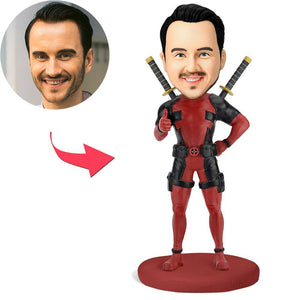 AU Sales-Custom Deadpool Popular Bobbleheads With Engraved Text