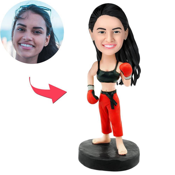AU Sales-Custom Female Boxer Bobbleheads